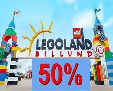 ✅50% LEGOLAND - BILLUND Dänemark online Gutschein Coupon Eintrittskarten Ticket