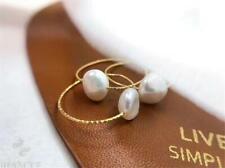 1pcs 11-12MM white Baroque Pearl Ring 18 K Rose Gold Handmade Elegant Jewelry