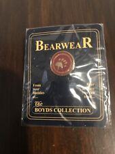 Boyds Bear Bearwear Bear Paw Logo Jewelry Lapel Pin Tic Tac Retired Store Stock