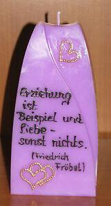 Schöne Kerze zur Geburt-mit verschiedenen Texte/Farben/Motiven-Geschenkidee