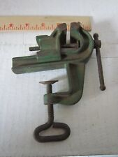 Small Vintage Table Clamp Vise Woodworking Gunsmith Jeweler