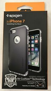 Apple iPhone 7 Hybrid Armour Gunmetal Grey Case - Mobile Phone Protection