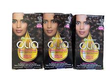 Lot of 3- Garnier Olia Permanent Hair Color 4.15 Dark Soft Mahogany