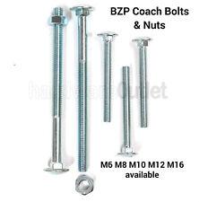 M10 x 30mm Carriage Bolt Coarse Thread *Grade 4.8*