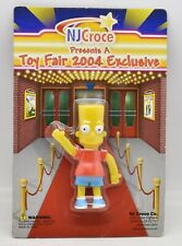 "The Simpsons Bart Simpson Bendable 2.75"" Figure NJ Croce 2004 Toy Fair Exclusive"