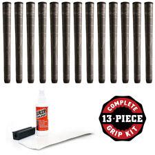 "Winn Dri-Tac Lite Oversize (+1/8"") Dark Gray DriTac -13 Pieces Golf Grip Kit NEW"