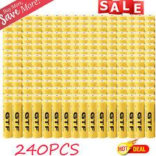 240X 18650 3.7V 9800mAh Yellow Li-ion Rechargeable Battery For Torch Flashlight