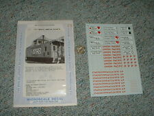 Microscale  decals HO 87-97 Union Pacific safety slogan cabooses  G18
