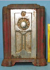 NOW ON SALE* 1936/40 RADIO W/COMB DOOR OLD CAST IRON BANK GUARANTEED ORIG CI 658