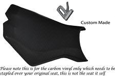 CARBON FIBRE VINYL CUSTOM FITS KTM SUPERDUKE 990 R 07-12 FRONT RIDER SEAT COVER