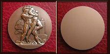 1839 Ar Medal Heracles wrestling Antaeus Nude Males Lion Rome Prize Mythology