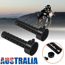 2x Universal Motorcycle Exhaust DB Muffler Can 48mm Baffle Silencer Black