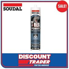 Soudal T-Rex Power Fast Grab 290ml SMX® Polymer Sealant Adhesive Clear - 101760