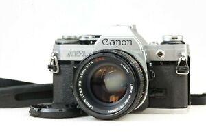 【EXC+++++】 Canon AE-1 35mm SLR Film Camera w/ FD 50mm f/1.4 S.S.C. SSC Lens JPN