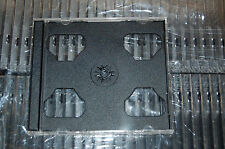 ONE (1) High Quality 10.4mm DOUBLE CD Jewel Cases w Black Tray Holds 2 CDs NEW