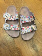 NEXT Girls Slip on Floral Beach Shoes uk 1 eur 33