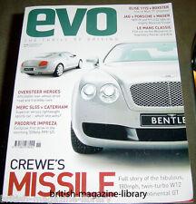 Evo Magazine Issue 49 - Bentley Continental - Mercedes SL55 vs Caterham