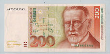 1989 Germany 200 Mark Note, AU P#42