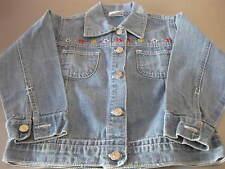 Jeansjacke Jacke Mädchen, blau, Gr. 98, blau mit Stickerei, hochwertig, top