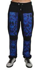 NEW $240 VERSACE JEANS Pants Training Casual Blue Cotton Trousers Mens s. M