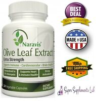 ORGANIC OLIVE LEAF EXTRACT 750 mg 120 Capsules Support Immune System Antioxidant