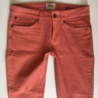 Ladies SuperDry Super Skinny Orange Jeans W26 L32 Uk Size 6 (477)
