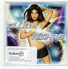 (FC381) Club Nights, Live It - 7 track album sampler - 2007 DJ CD