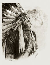 Native American Fine Art Print Indian Chief Western Southwest Eagle Spirit NEW