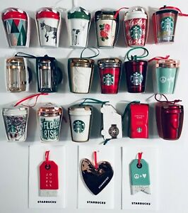 Starbucks Ornament 2016 2017 2018 Siren, Glitter, Cable, Truck, Press - NWT