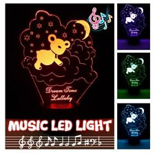 LED Night Light Music Bluetooth Speaker Color Change SD/TF card Bear Design