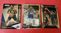 Donovan Mitchell 17-18 PRIZM ROOKIE CARD + CRACKED ICE PRIZM WORN JERSEY #d25/25