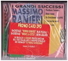 MASSIMO RANIERI I GRANDI SUCCESSI Juke Box Italy **NUOVO SIGILLATO** Promo Card