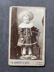 Victorian Carte De Visite CDV: Sweet Child Fancy Outfit: Gibson & Son Nottingham