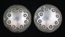 """1"""" Scallop & Rosette Silver Concho /Buttons #1022"""