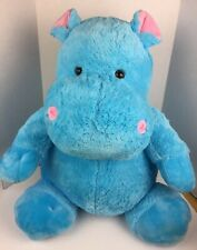 """Inter American Products Hippo Blue 26"""" Large Soft Toy Stuffed Animal 2014 Chubby"""