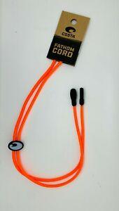 Costa Del Mar FATHOM CORD Eyewear Leash NEW - strap, retainer, ORANGE