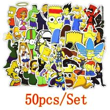 50 pcs The Simpsons Cartoon Anime Stickers Skateboard Graffiti Luggage Car Decal