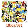 50PCS Cartoon anime Vinyl stickers Simpsons Street tide graffiti sticker Decals