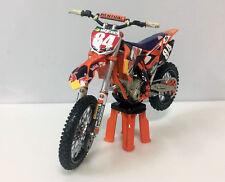 HINSON KTM450 1:12 Die-Cast Motocross Mx Toy Model Bike New Ray Redbull #84