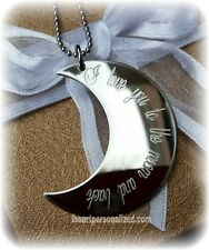 I love you to the moon and back necklace personalized custom family jewelry love