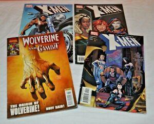 Uncanny X-MEN Issues 452-453-454 + Wolverine And Gambit #85 Marvel Comics Joblot