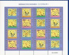 MACAO-CHINA- 1998-ARMY INSIGNIA- MINI SHEET -16  stamps-(4x4)