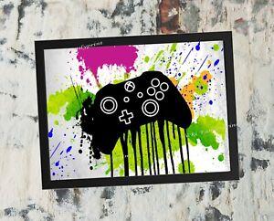 Photo Print, Watercolour xbox controller, boys gaming print