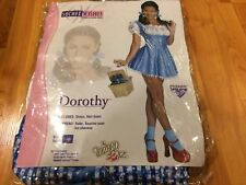Secret Wishes Wizard of Oz 75th Anniversary Edition Sequin Dorothy Costume LARGE