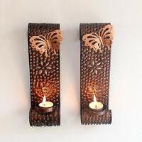Wall Hanging Tealight Candle Holder Metal Wall Sconce For Home Decoration