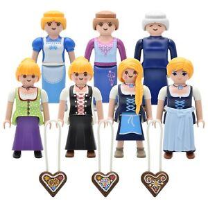 Playmobil Figurines Bauernmagd Dirndl Oktoberfest Seek Maid Costume