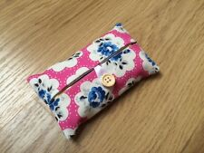 Handmade Packet Tissue Holder - Cath Kidston Electric Pink Provence Rose Fabric