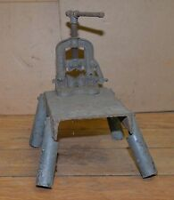 Heavy duty pipe vise & stand plumbers blacksmith tool Fewells & Son vintage