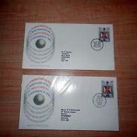 1986 COMMONWEALTH PARLIAMENTARY ASSOCIATION CONFERENCE FDC X 2 LONDON EDINBURGH