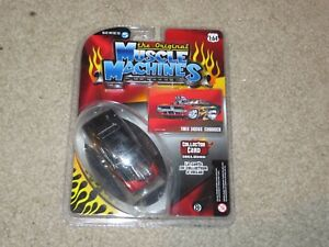 The Original Muscle Machines Series 5 1969 Dodge Charger Black Flames MOC 2008